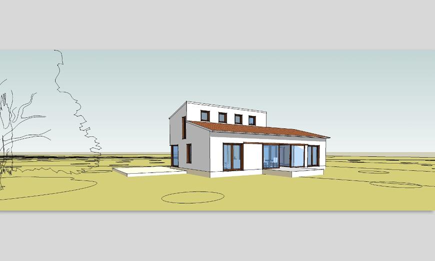 Casa de balas de paja y madera (KLH) - Selva, Mallorca (España) - 2012