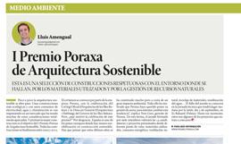 Premios de Arquitectura Sostenible 2012 Poraxa