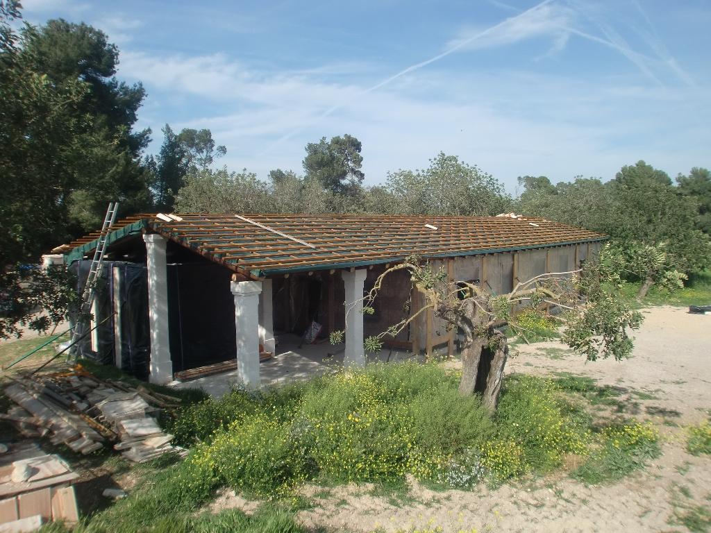 En construcción: Casa de paja en Porreres (I)