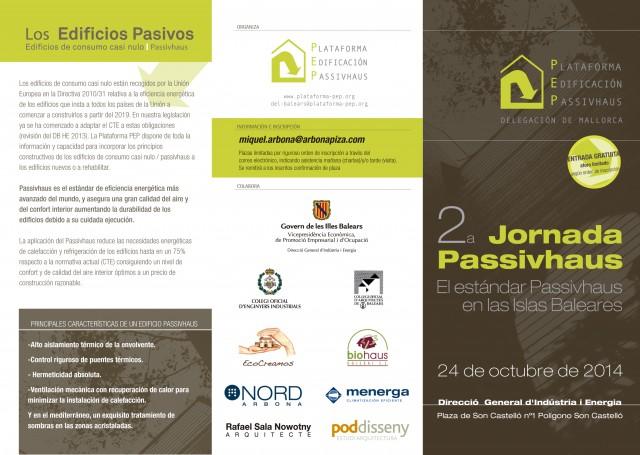2ª Jornada Passivhaus: El estándar Passivhaus en las Islas Baleares. 24 de octubre de 2014