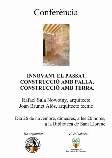 Conferencia: Innovant el Passat- 26/XI/2014 -Sant Llorenç