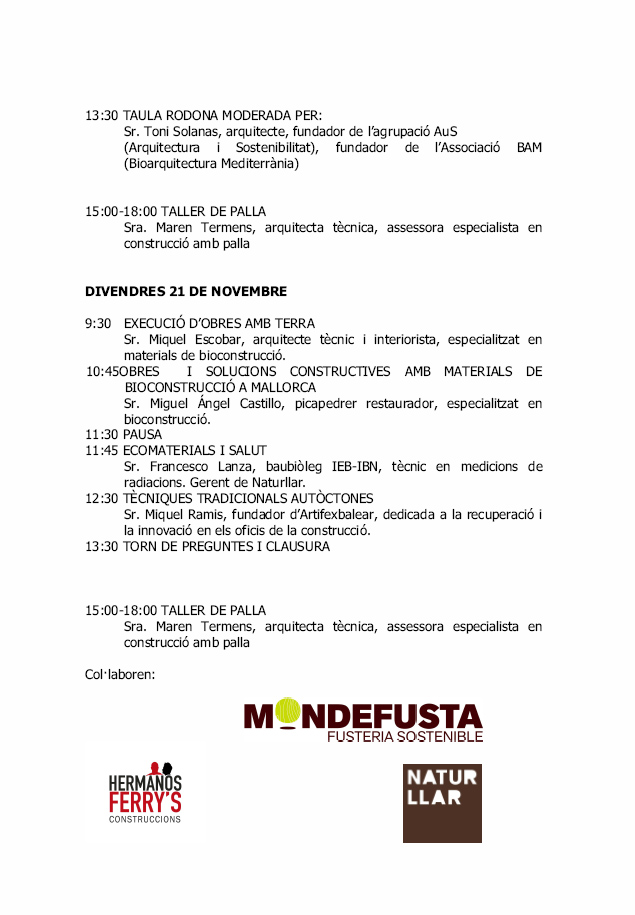 Programa bioconstruccion 2014-2
