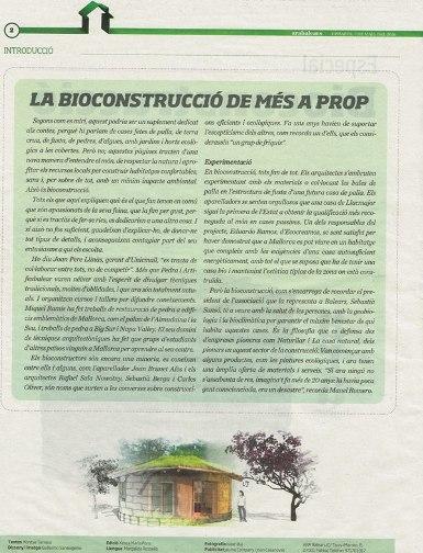 Artículo bioconstrucción Ara Balears